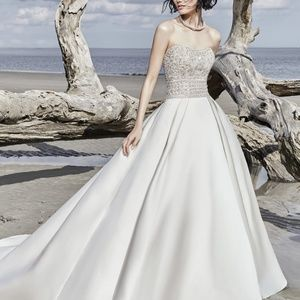 Sottero and Midgley Satin Phoenix Wedding Gown 12